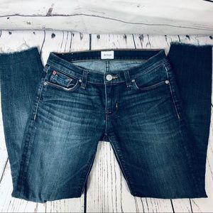 Hudson Krista Super Skinny Ankle fray Jeans 26